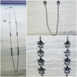 Long Necklace with Earrings!